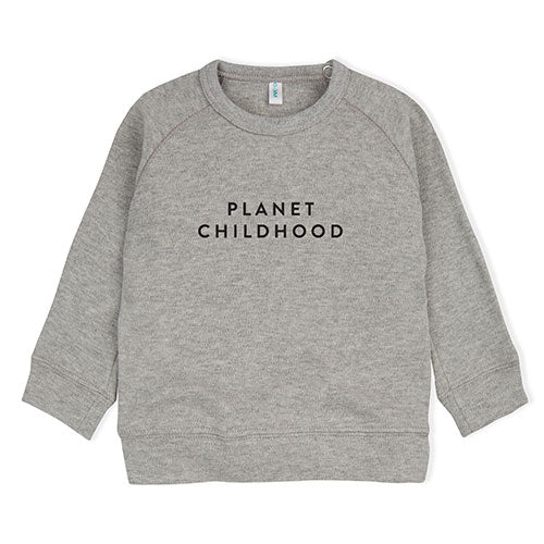 Organic Zoo - Sweatshirt Planet Childhood (grå)