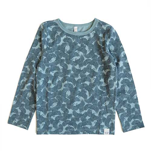By Heritage - Loa Bluse (petrol/print)