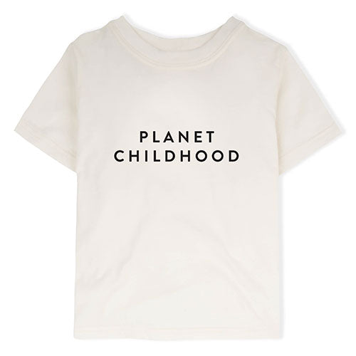 Organic Zoo - T-shirt Planet Childhood (hvid)