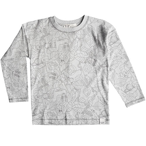 By Heritage - Ted langærmet t-shirt (warm grey print)