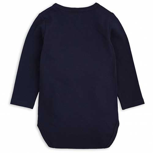 Mini Rodini - Basic langærmet body (navy)
