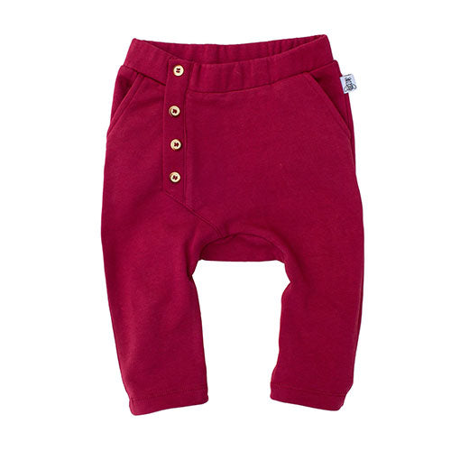 Bumble & Bee - Baggy sweatpants (ruby wine)