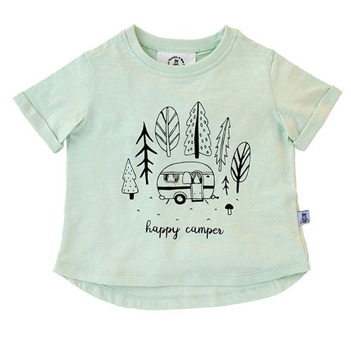Bumble & Bee - Happy Camper t-shirt (mint)