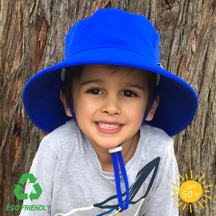 Bucket Hat - Eco Bucket Kids Sun Hat - Royal Blue