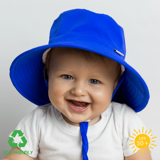 Little Georgie Royal Blue Eco Friendly Bucket Kids Sun Hat