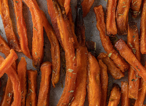 Sweet Potatoes are good source of healthy carbs and protein.