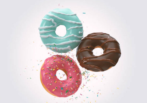 Sweet foods like donuts are high in cholesterol