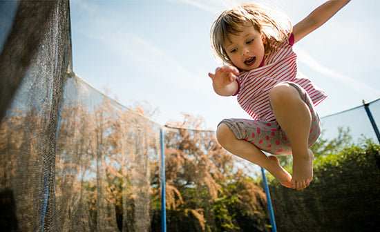 Fun Active Play with Trampolines