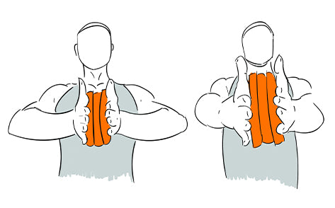 Chest Squeeze Press with Weight Plates