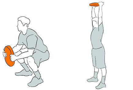 Squat Press with Weight Plates