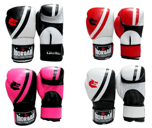 Morgan V2 Professional Leather Boxing Gloves (All Sizes & Colours)