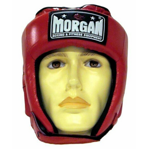Morgan Platinum Open Face Leather Head Guard