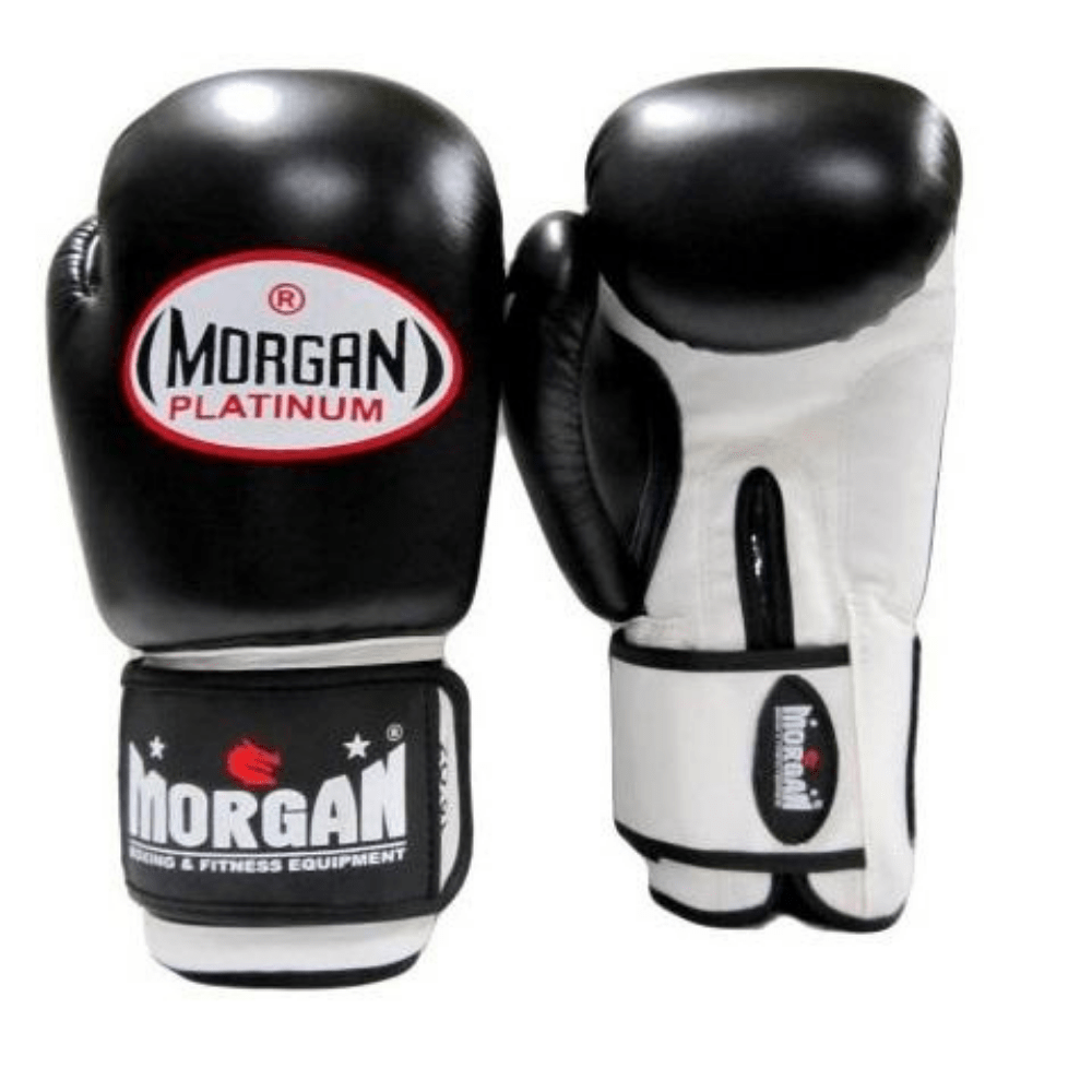 Morgan V2 Platinum Leather Sparring Gloves (10 -12 -14 -16oz)