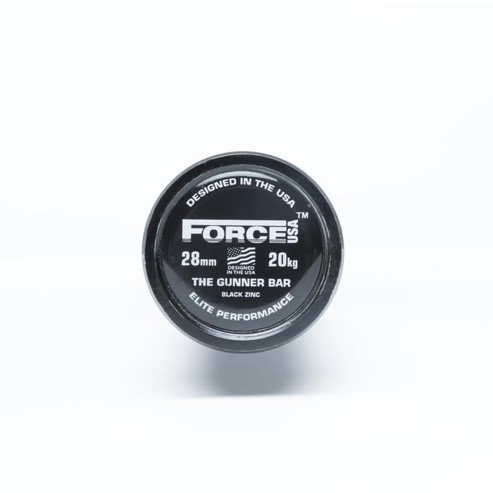 Force USA Gunner Barbell (Black Zinc Bar with Black Zinc Sleeves) - Competition Tested