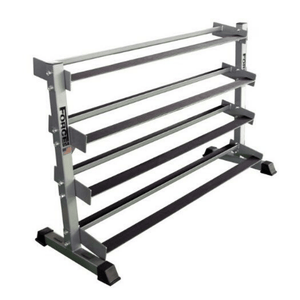 Force USA 4 Tier Rubber Hex Dumbbell Rack