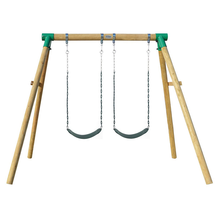 Amber 3 Double Belt Swing Set