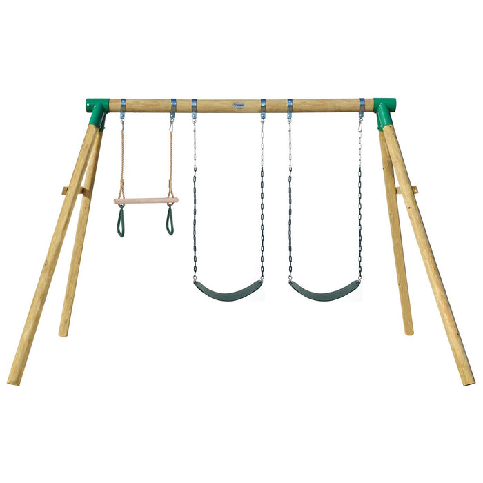 Wesley Double Swing With Trapeze