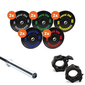 Force USA 170kg Bumper Plate Package