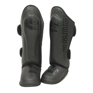 Morgan B2 Bomber Leather Sparring Shin Protectors