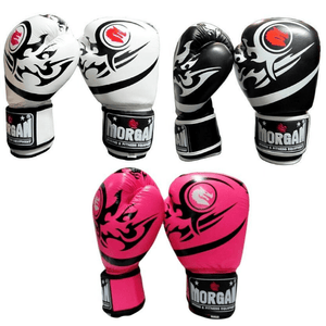 Morgan Elite Boxing & Muay Thai Leather Gloves (8 -12 & 16oz)