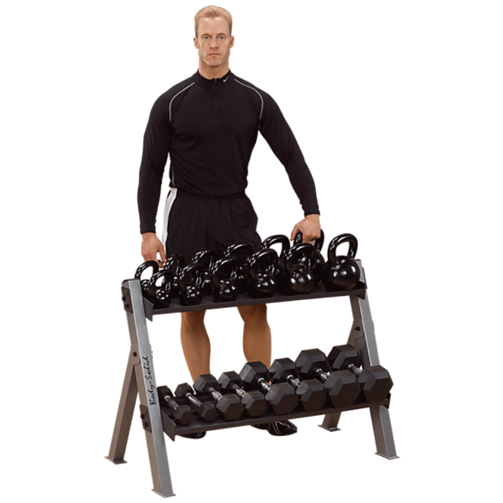 Body Solid Reversible Dumbell / Kettlebell Rack
