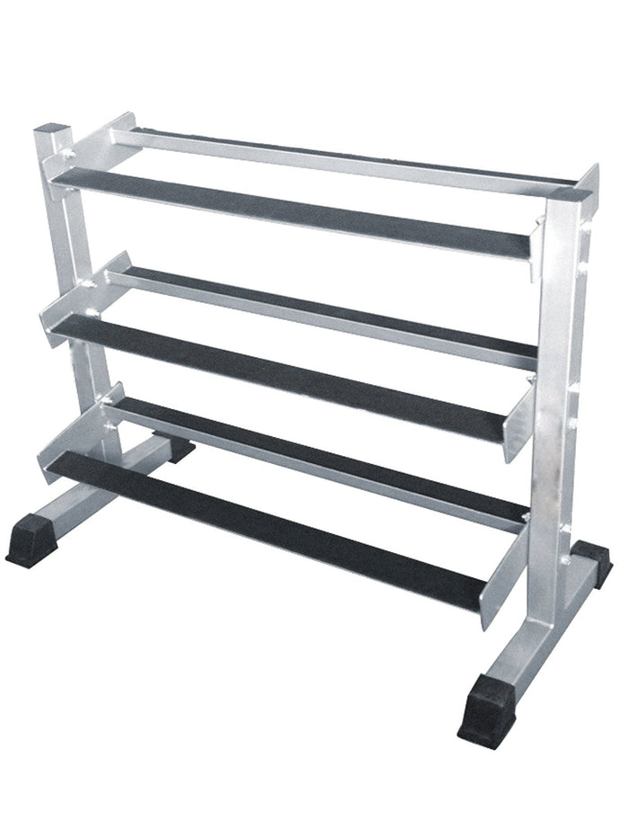 Force USA 3 Tier Flat Shelf Dumbbell Rack for RHD - Home Use