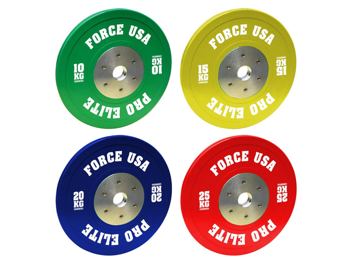 Force USA Elite Pro Grade Bumper Plates (Sold individually)