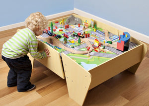 Plum Train and Track Play Table
