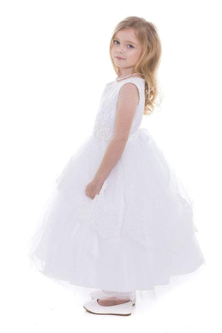 Beaded 3D Lace Communion Dress