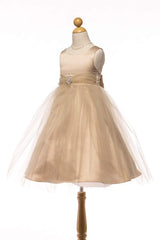 Beautiful Sleeveless Satin and tulle Skirt Dress