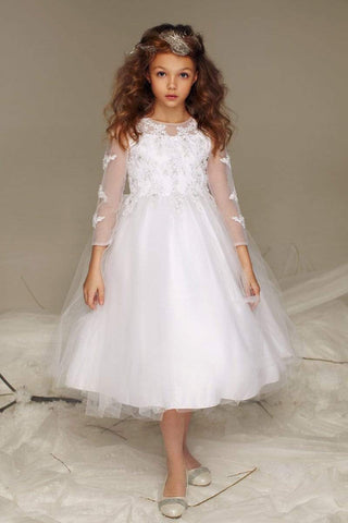 Beautiful tulle dress with embroidered top