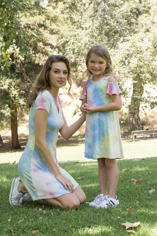 Chic Tie-dye Mom and Me matching Set