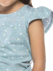 Cute Polka-dot Top with Ribbon