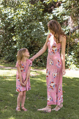 Floral Mom and Me matching Dress Set in Mauve