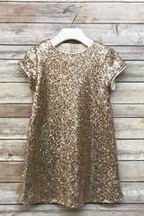 Glamorous Sequin Shift Dress Gold