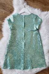 Glamorous Sequin Shift Dress Mint