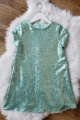 Glamorous Sequin Shift Dress Rainbow