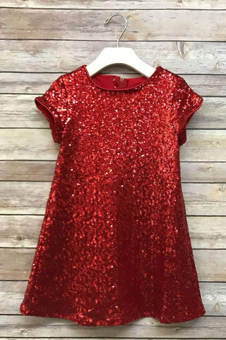 Glamorous Sequin Shift Dress Red