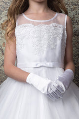 Gorgeous Scalloped Lace top First  Communion dress