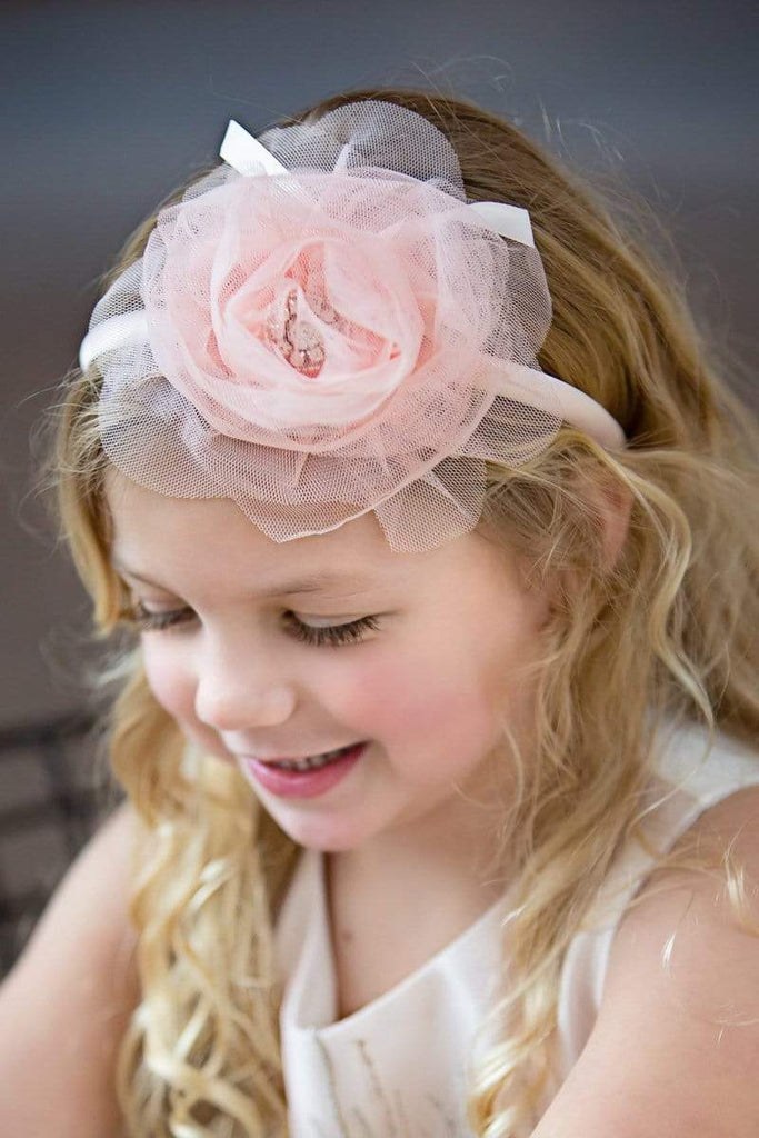 Hand Made Chiffon Flower Girl Headband