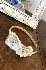 Hand made flower girl headband