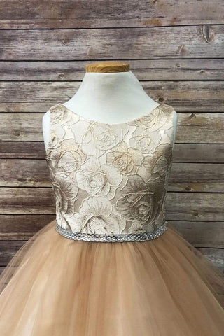 Jacquard Top Dress Champagne