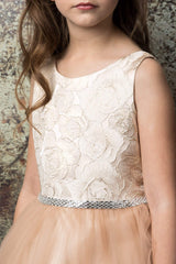 Jacquard Top Flower Girl Dress