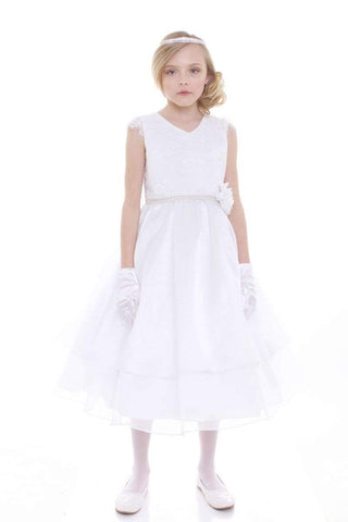 Organza and Lace Communion Dress
