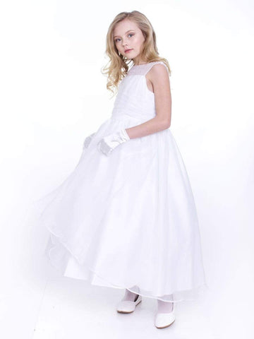 Organza Dress with Gathered Top