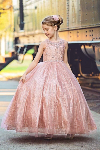 Princess Glitter Girl's Pageant Dress