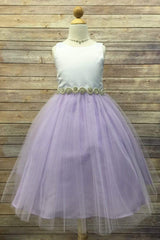 Rhinestone Belted Dress with Tulle Skirt
