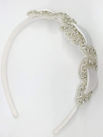 Satin and Rhinestone Headband