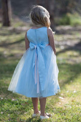 Satin and Tulle bouquet dress Sage