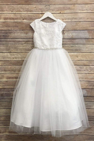 Silk & Glittery Tulle Dress